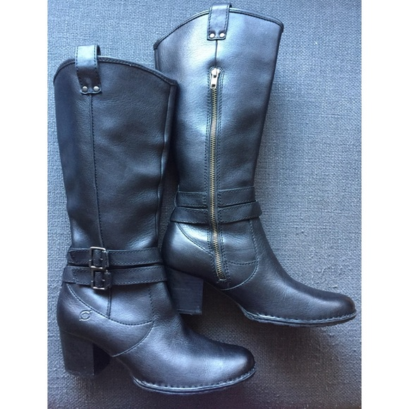 0f172bd247e BOC Born Boots - Tall Black Leather Size 9